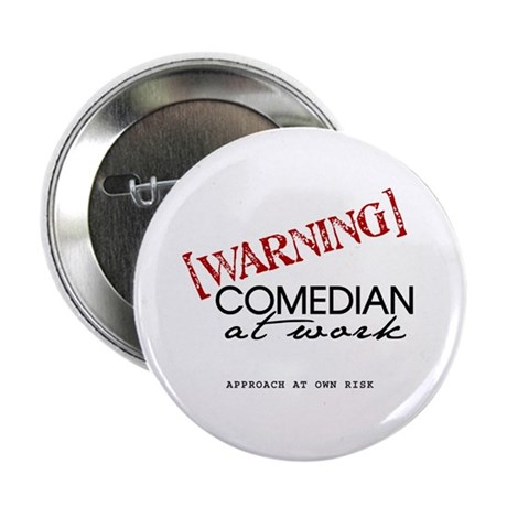 """Warning: Comedian 2.25"""" Button (10 pack)"""