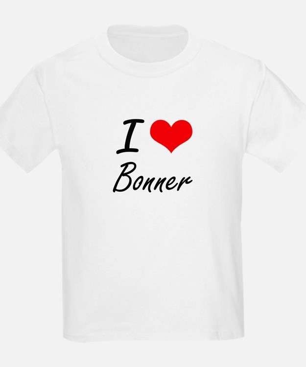 I Love Bonner artistic design T-Shirt