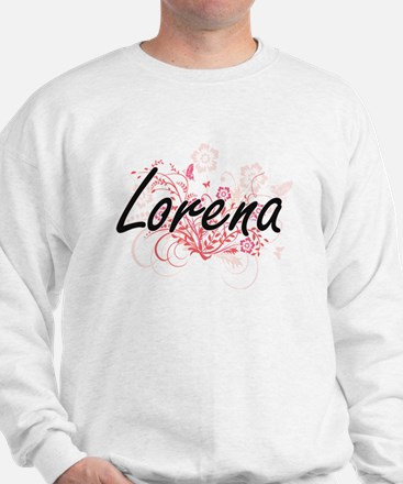 Lorena Artistic Name Design with Flower Sweater