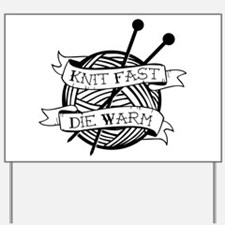 Unique Knitters Yard Sign