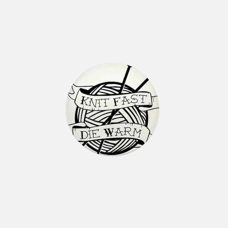 Cute Knitting tattoos Mini Button
