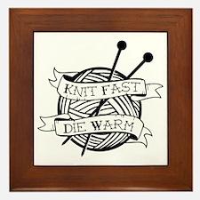 Unique Knit Framed Tile