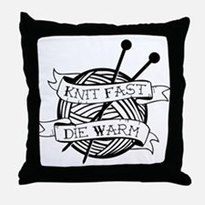 Cute Fast knitting Throw Pillow