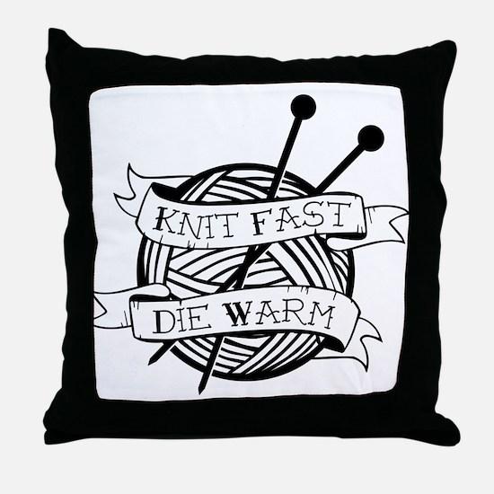 Unique Knitter Throw Pillow