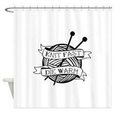 Cute Knit Shower Curtain