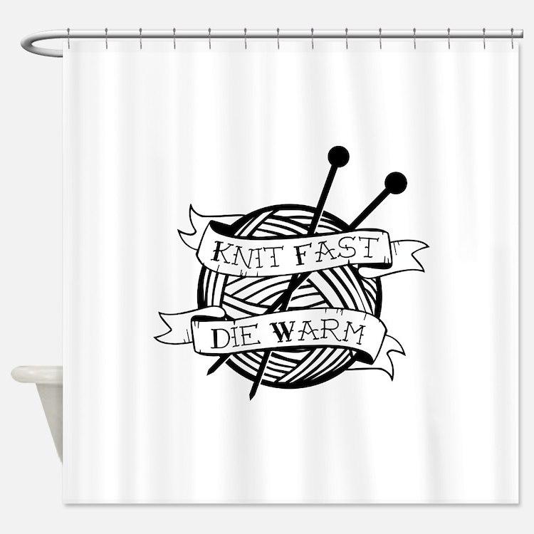 Cute Knitter Shower Curtain