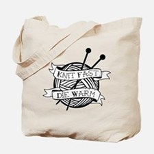 Cute Knitting tattoos Tote Bag
