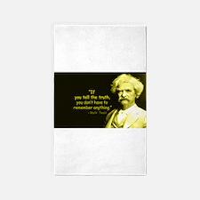 Mark Twain Tell the Truth Area Rug