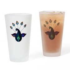 Smoky Peacock Drinking Glass