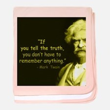 Mark Twain Tell the Truth baby blanket