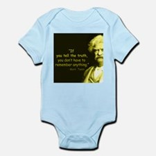 Mark Twain Tell the Truth Body Suit
