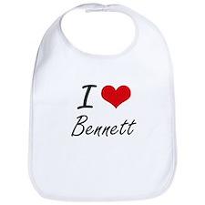 I Love Bennett artistic design Bib