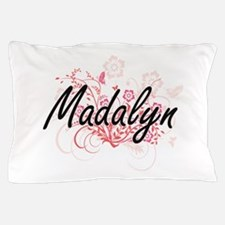 Madalyn Artistic Name Design with Flow Pillow Case