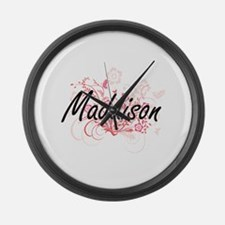 Maddison Artistic Name Design wit Large Wall Clock