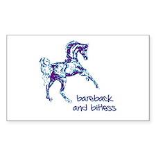 Bareback Rectangle Stickers