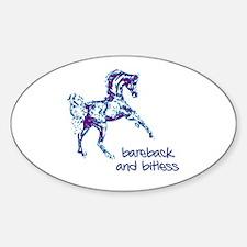 Bareback Oval Stickers
