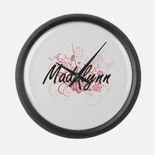 Madelynn Artistic Name Design wit Large Wall Clock
