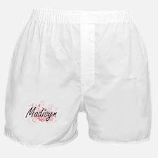 Madisyn Artistic Name Design with Flo Boxer Shorts