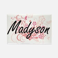 Madyson Artistic Name Design with Flowers Magnets