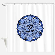 aum-blue.png Shower Curtain