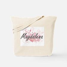 Magdalena Artistic Name Design with Flowe Tote Bag