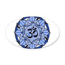 aum-blue.png Oval Car Magnet