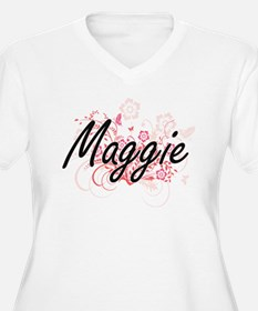 Maggie Artistic Name Design with Plus Size T-Shirt