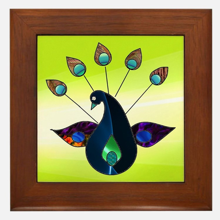 Smoky Peacock Framed Tile
