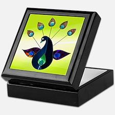 Smoky Peacock Keepsake Box