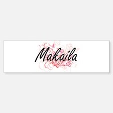 Makaila Artistic Name Design with F Bumper Bumper Bumper Sticker