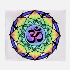 aum-rainbow.png Throw Blanket