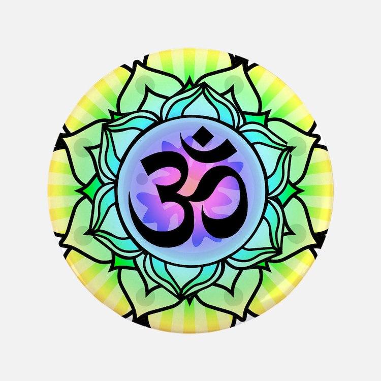"aum-rainbow.png 3.5"" Button (100 pack)"