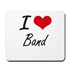 I Love Band artistic design Mousepad
