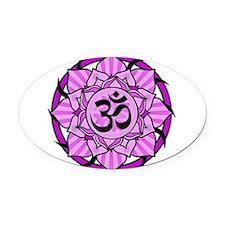 aum-purple.png Oval Car Magnet