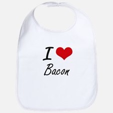 I Love Bacon artistic design Bib