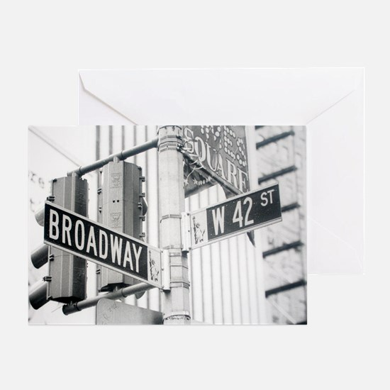 NY Broadway Times Square - Greeting Card