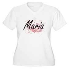 Maria Artistic Name Design with Plus Size T-Shirt