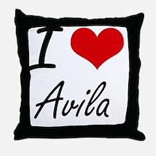 Unique Avila family reunion Throw Pillow