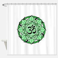 aum-green.png Shower Curtain