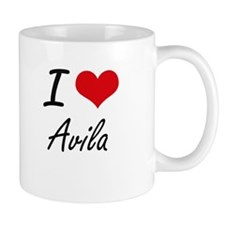 I Love Avila artistic design Mugs