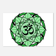 aum-green.png Postcards (Package of 8)