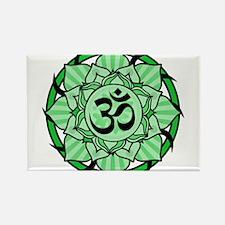 Aum Lotus Mandala (Green) Magnets
