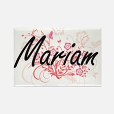Mariam Artistic Name Design with Flowers Magnets