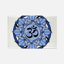 Aum Lotus Mandala (Blue) Magnets