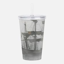 Grey, Gray Fog Pirate Ship Acrylic Double-wall Tum