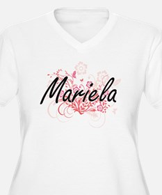 Mariela Artistic Name Design wit Plus Size T-Shirt