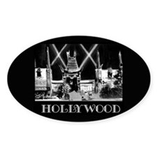 Hollywood! Oval Decal
