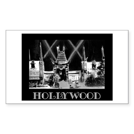 Hollywood! Rectangle Sticker