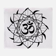 aum-grey.png Throw Blanket