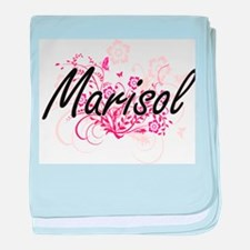 Marisol Artistic Name Design with Flo baby blanket